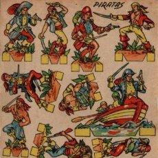 Coleccionismo Recortables: ANTIGUO RECORTABLE PIRATAS....SALIDA 0,01. Lote 129709075