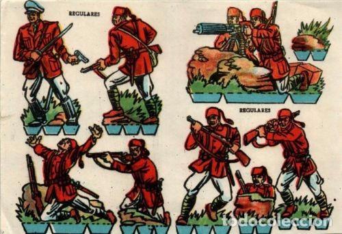 ANTIGUO RECORTABLE SOLDADOS REGULARES.....SALIDA 0,01 (Coleccionismo - Recortables - Soldados)