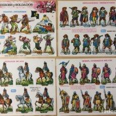 Coleccionismo Recortables: RECORTABLES HEROES Y SOLDADOS. EDICIONES BOGA. 1973. COLECCIÓN COMPLETA.. Lote 129741371