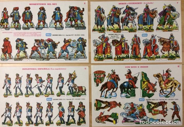 Coleccionismo Recortables: Recortables Heroes y Soldados. Ediciones Boga. 1973. Colección completa. - Foto 2 - 129741371