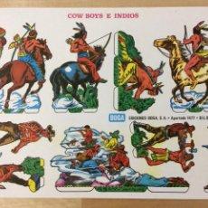 Coleccionismo Recortables: RECORTABLE DE COW BOYS E INDIOS. EDICIONES BOGA. 1973.. Lote 129742187