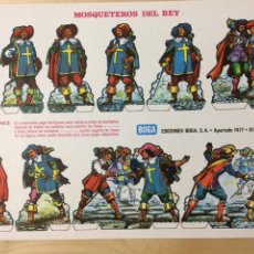Coleccionismo Recortables: RECORTABLE DE MOSQUETEROS DEL REY. EDICIONES BOGA. 1973.. Lote 129742251