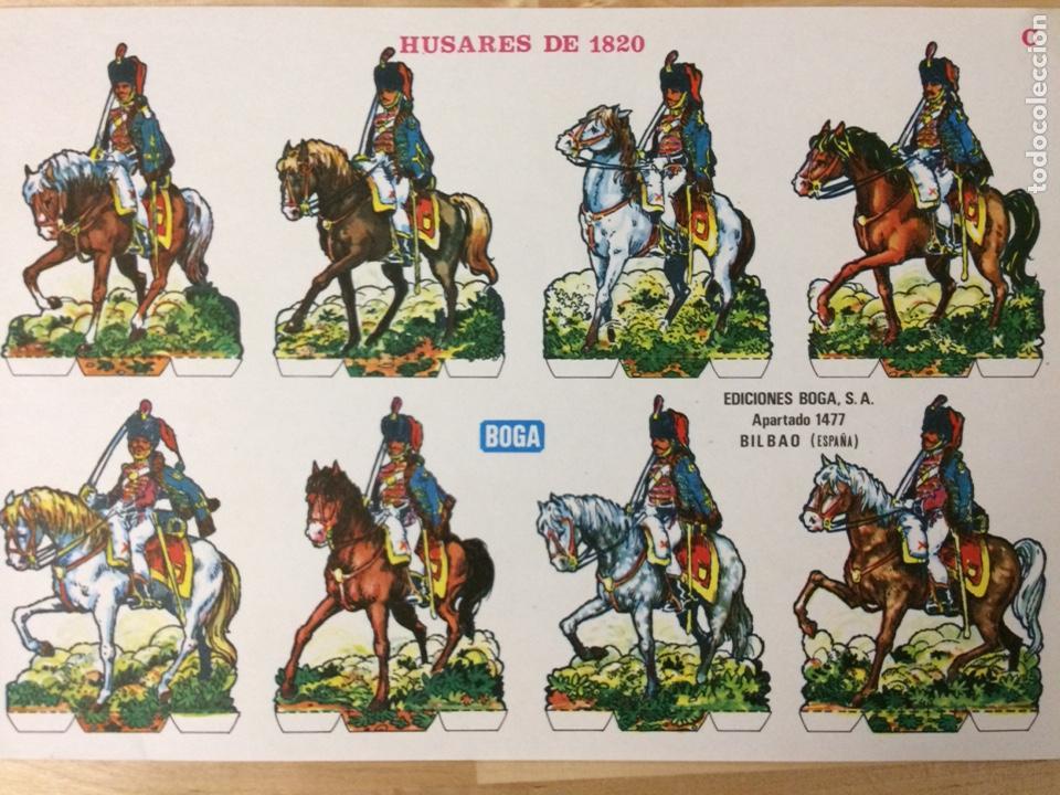 RECORTABLE DE HUSARES DE 1820. EDICIONES BOGA. 1973. (Coleccionismo - Recortables - Soldados)