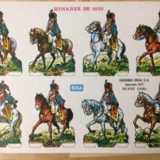 Coleccionismo Recortables: RECORTABLE DE HUSARES DE 1820. EDICIONES BOGA. 1973.. Lote 129742331