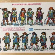 Coleccionismo Recortables: RECORTABLE DE ESPADACHINES Y MOSQUETEROS. EDICIONES BOGA. 1973.. Lote 129742435