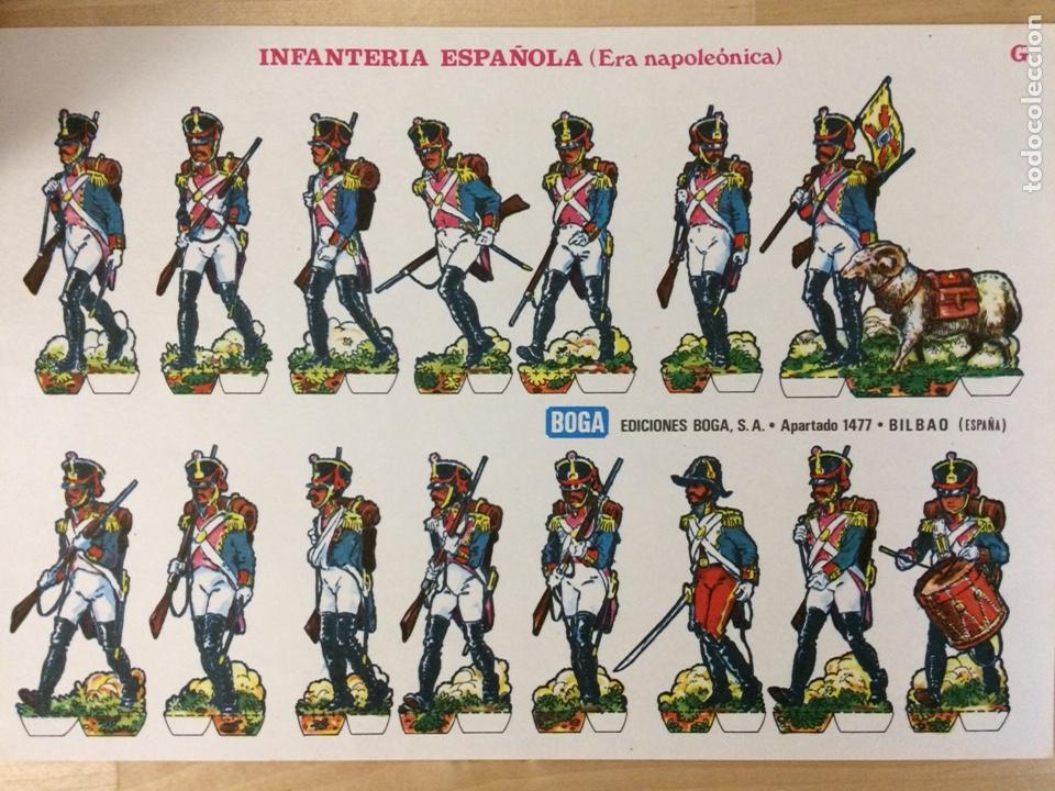 RECORTABLE DE INFANTERÍA ESPAÑOLA (ERA NAPOLEÓNICA). EDICIONES BOGA. 1973. (Coleccionismo - Recortables - Soldados)