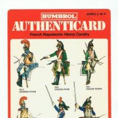 Coleccionismo Recortables: HUMBROL AUTHENTICARD .- FRENCH NAPOLEONIC HEAVY CAVALRY. SERIES 2, Nº 8.. Lote 133573902