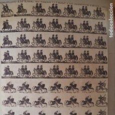 Coleccionismo Recortables: EJERCITO ESPAÑOL.GUARDIA CIVILES Y HUSARES DE PAVIA Nº84.ANTONIO BOSCH AÑO 1875. Lote 135890790