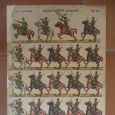 Coleccionismo Recortables: EJERCITO RUSO CABALLERIA Nº13 LIT ROVIRA Y CHIQUES BARCELONA. Lote 136100662