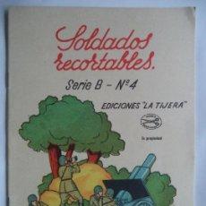 Coleccionismo Recortables: LA TIJERA SOLDADOS RECORTABLES SERIE B Nº4.CUADERNILLO CON 8 HOJAS DE SOLDADOS. Lote 138136878