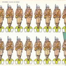 Coleccionismo Recortables: INFANTERIA ITALIANA EN DESFILE. RECORTABLES TORAY Nº 11. Lote 139563366