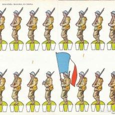 Coleccionismo Recortables: INFANTERIA FRANCESA EN DESFILE. RECORTABLES TORAY Nº 13. Lote 139563430