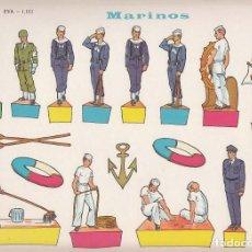 Coleccionismo Recortables: RECORTABLE, MARINOS, EDICIONES EVA Nº 1102. Lote 139564030