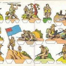 Coleccionismo Recortables: INFANTERIA AUSTRALIANA EN ACCIÓN. RECORTABLES TORAY Nº 16. Lote 194268685