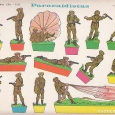 Coleccionismo Recortables: RECORTABLE, PARACAIDISTAS. RECORTABLES EVA Nº 1104. MEDIDAS 22,5 X 30 CMS. AÑO 1965. CARTULINA. Lote 139566610