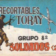 Coleccionismo Recortables: RECORTABLES TORAY GRUPO 8, CUADERNO COMPLETO CON 16 RECORTABLES DEL NÚMERO 153 AL 160 (2 DE CADA). Lote 139567894