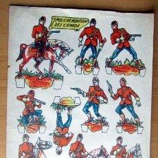 Coleccionismo Recortables: ANTIGUO RECORTABLE--POLICIA MONTA DEL CANADA -- MEDIAS 29 X 21,5 CM EN BUEN ESTADO. Lote 139617542