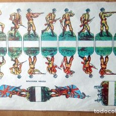 Coleccionismo Recortables: ANTIGUO RECORTABLE--INFANTERIA INGLESA -- MEDIAS 29 X 21,5 CM EN BUEN ESTADO. Lote 139617834