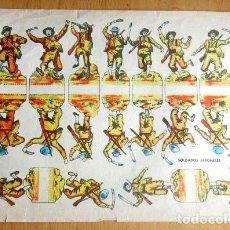 Coleccionismo Recortables: ANTIGUO RECORTABLE--SOLDADOS JAPONESES -- MEDIAS 29 X 21,5 CM . Lote 139617942