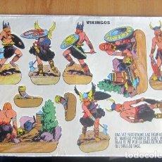 Coleccionismo Recortables: ANTIGUO RECORTABLES VIKINGOS -- MEDIAS 32,5 X 23,CM EN BUEN ESTADO. Lote 139630098