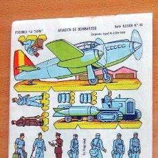 Coleccionismo Recortables: EDICIONES LA ILUSION-- AVION DE BOMBARDEO-- SERIE ILUSION Nº 49 - AÑO 1958 . Lote 139982314