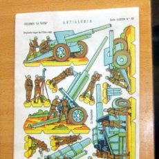 Coleccionismo Recortables: EDICIONES LA ILUSION-- ARTILLERIA -- SERIE ILUSION Nº 50 - AÑO 1958 . Lote 139982594