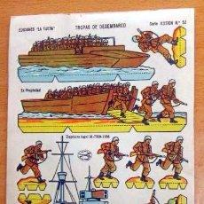 Coleccionismo Recortables: EDICIONES LA ILUSION-- TROPAS DE DESENBARCO -- SERIE ILUSION Nº 52 - AÑO 1958 . Lote 139983382