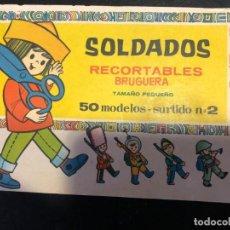 Coleccionismo Recortables: SOLDADOS RECORTALES BRUGUERA 50 MODELOS SURTIDO Nº 2. Lote 139997018