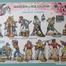 Coleccionismo Recortables: RECORTABLES. HÉROES Y SOLDADOS. CORSARIOS Y PIRATAS. BOGA. BILBAO. ESPAÑA. 24 X 33.5 CM. Lote 141578670