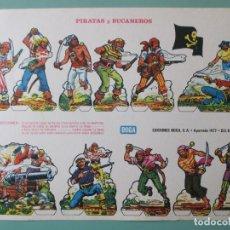 Coleccionismo Recortables: RECORTABLES. BOGA. BILBAO. ESPAÑA. PIRATAS Y BUCANEROS. 24 X 33.5 CM. Lote 141579182