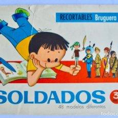 Coleccionismo Recortables: CUADERNO RECORTABLES BRUGUERA. SOLDADOS, 48 MODELOS DIFERENTES. SERIE 3-B. 1961. BARCELONA. Lote 144132546
