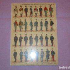 Coleccionismo Recortables: ESTAMPERIA ECO. PALUZIE - EJERCITO ESPAÑOL ( INFANTERIA - CABALLERIA - ARTILLERIA - Nº 56 ) - NUEVO . Lote 145368510