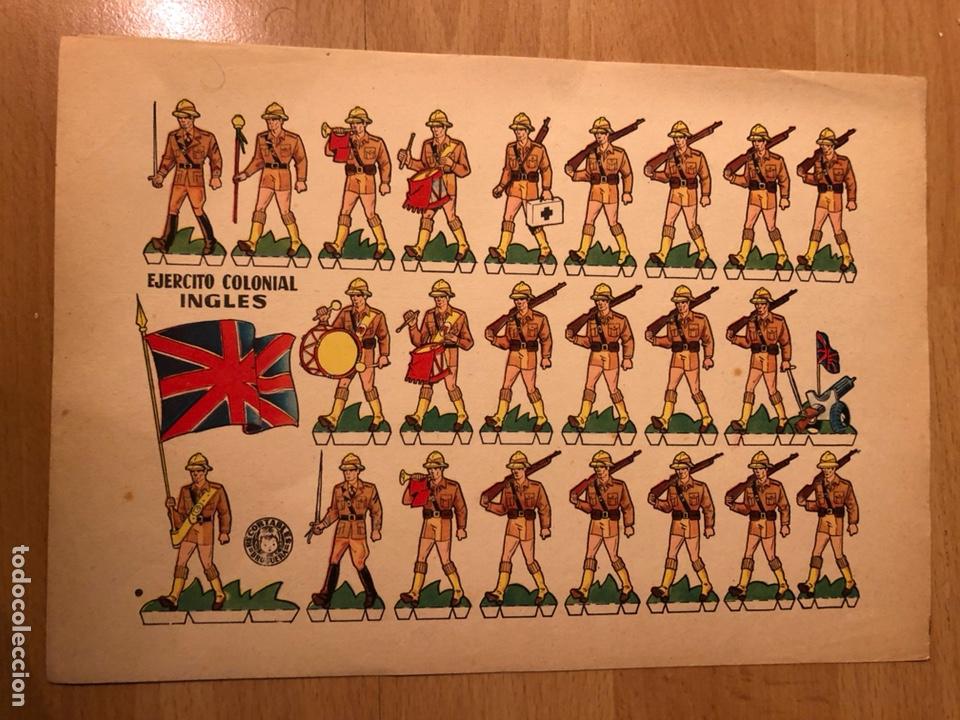 LAMINA RECORTABLES BRUGUERA 24X18 CM SOLDADOS EJÉRCITO COLONIAL INGLÉS (Coleccionismo - Recortables - Soldados)