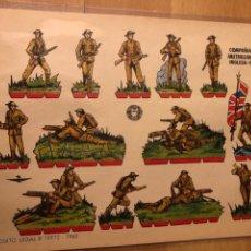 Coleccionismo Recortables: LAMINA RECORTABLES BRUGUERA 24X18 CM SOLDADOS COMPAÑÍA DE AMETRALLADORAS INGLESA 1916. Lote 146317006
