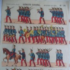 Coleccionismo Recortables: PALUZIE EJERCITO ESPAÑOL INFANTERIA DE LINEA Nº 50. Lote 146636778