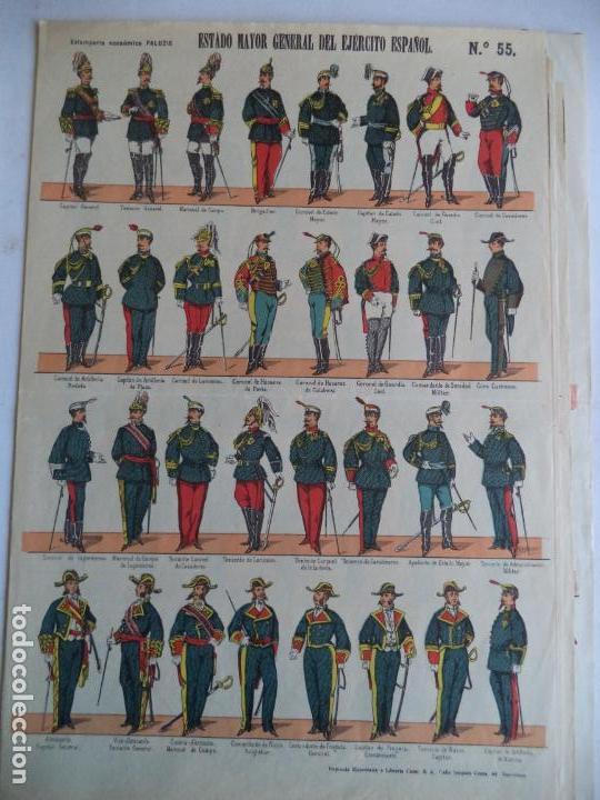PALUZIE ESTADO MAYOR GENERAL DEL EJERCITO ESPAÑOL Nº 55 (Coleccionismo - Recortables - Soldados)