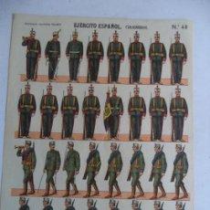 Coleccionismo Recortables: PALUZIE EJERCITO ESPAÑOL CARABINEROS Nº48. Lote 146640890