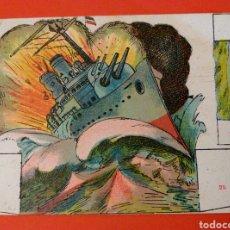 Coleccionismo Recortables: GRAN COMBATE NAVAL 2ª SERIE Nº 1 Y 25 - CHOCOLATES SALAS-SABADELL AÑOS 20. Lote 146764830