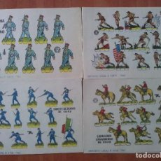 Coleccionismo Recortables: 10 RECORTABLES MILITARES - BRUGUERA - DIVERSOS. Lote 151183444
