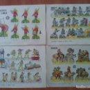 Coleccionismo Recortables: 10 RECORTABLES MILITARES - BRUGUERA - DIVERSOS. Lote 151183490