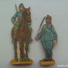 Coleccionismo Recortables: LOTE DE 2 FIGURAS DE LA CABALLERIA ESPAÑOLA . RECORTADOS Y MUY ANTIGUOS. Lote 147577554
