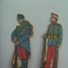 Coleccionismo Recortables: LOTE DE 2 FIGURAS DE LA INFANTERIA ESPAÑOLA . RECORTADOS Y MUY ANTIGUOS. Lote 147644066