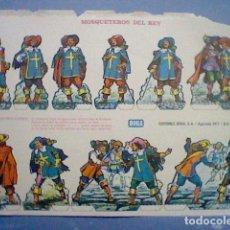 Coleccionismo Recortables: MOSQUETEROS DEL REY RECORTABLE LETRA G. Lote 147669194