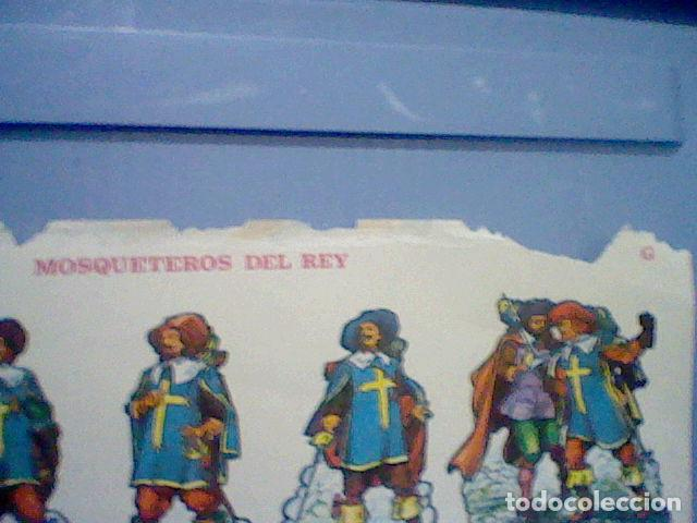 Coleccionismo Recortables: MOSQUETEROS DEL REY RECORTABLE LETRA G - Foto 2 - 147669194