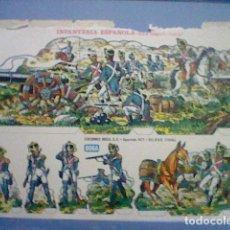 Coleccionismo Recortables: INFANTERIA ESPAÑOLA EPOCA NAPOLEONICA RECORTABLE LETRA F. Lote 147669242