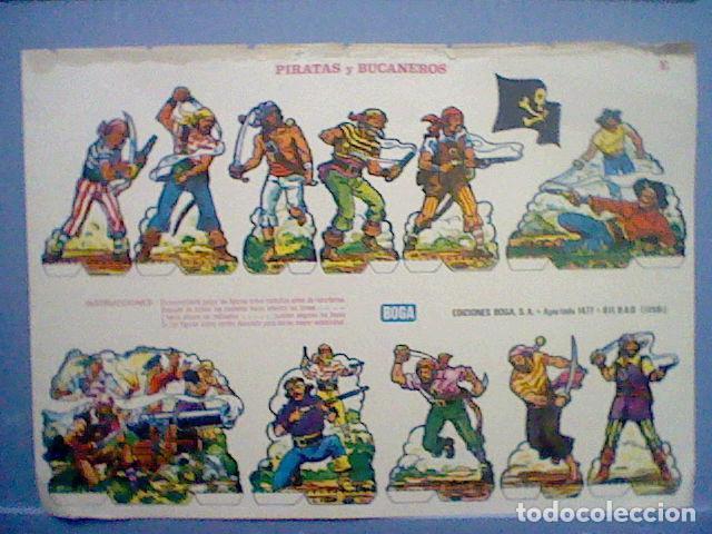 PIRATAS Y BUCANEROS EPOCA NAPOLEONICA RECORTABLE LETRA E (Coleccionismo - Recortables - Soldados)
