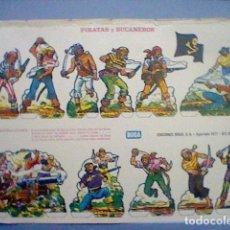 Coleccionismo Recortables: PIRATAS Y BUCANEROS EPOCA NAPOLEONICA RECORTABLE LETRA E. Lote 147669298