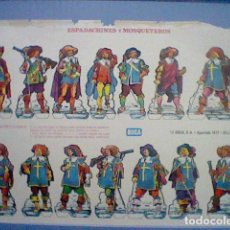 Coleccionismo Recortables: ESPADACHINES Y MOSQUETEROS RECORTABLE LETRA D. Lote 147669362