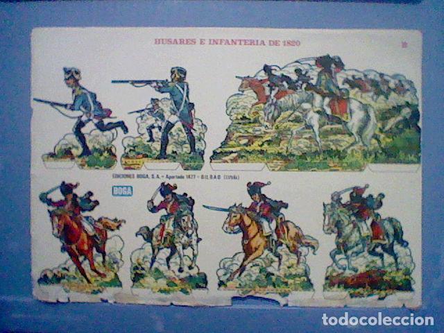 HUSARES E INFANTERIA DE 1820 RECORTABLE LETRA B (Coleccionismo - Recortables - Soldados)