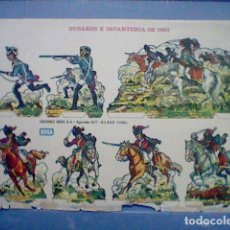 Coleccionismo Recortables: HUSARES E INFANTERIA DE 1820 RECORTABLE LETRA B. Lote 147669410